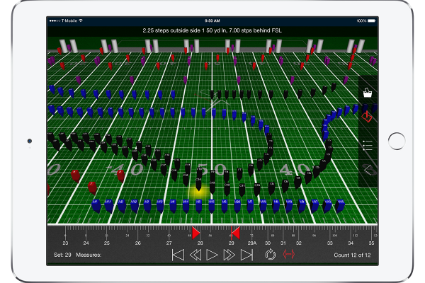 Seamlessly retrieve file updates with the press of a button. View both Production Sheet and Text Box instruction information. Open drill files for any venue: football fields, gymnasiums, parade routes; if you can design it in Pyware 3D®, you can open it in Pyware 3D Viewer!